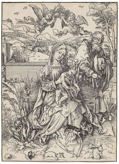 Albrecht Dürer, 'The Holy Family with three Hares (B. 102; M., Holl. 212; S.M.S. 108)', ca. 1497