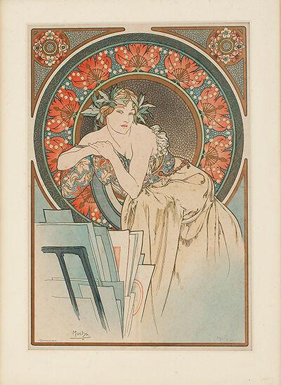 Alphonse Mucha, 'La femme au coquelicots ', 1898