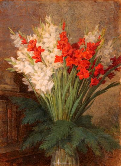 Gaetano Previati, 'Jar of gladioli', 1910-1920
