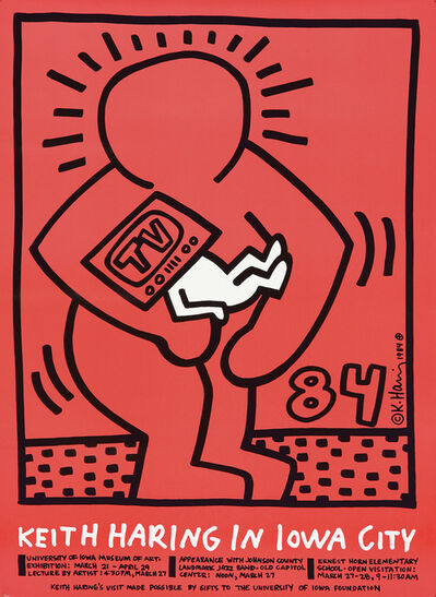 Keith Haring, 'Keith Haring in Iowa City.', 1984