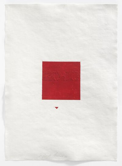 Sigfredo Chacón, 'Dibujo serie London (Rojo cuadro)', 1974