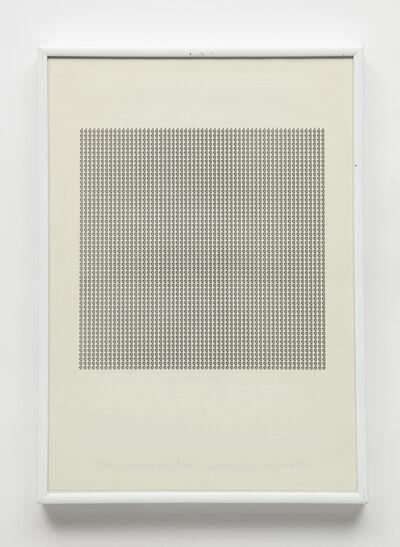 """Maurizio Nannucci, 'Dattilogramma """"è""""', 1965"""