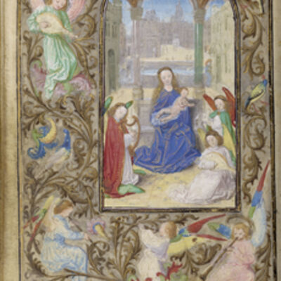 Lievan van Lathem, 'The Virgin and Child with Angels', 1471