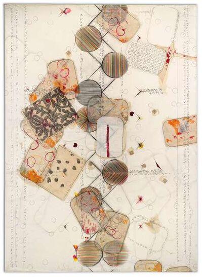 Alighiero Boetti, 'Senza Titolo (Dove Le Parallele Vanno Ad Incontrarsi...)', 1989