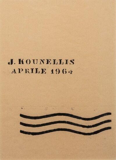 Jannis Kounellis, 'J. Kounellis Aprile 1964', 1964