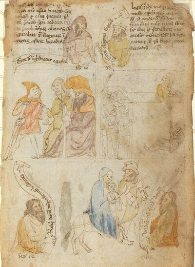 'The Flight into Egypt [recto]', early 15th century