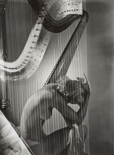 Horst P. Horst, 'Lisa with Harp', 1939