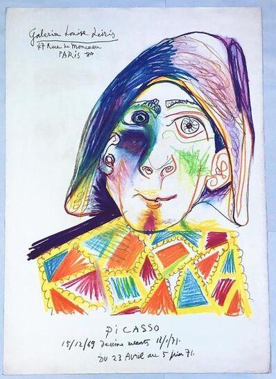 Pablo Picasso, 'Harlequin, Galerie Louise Leiris', 1969