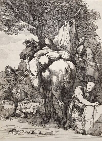John Hamilton Mortimer, 'Packhorse and Soldier', 1783