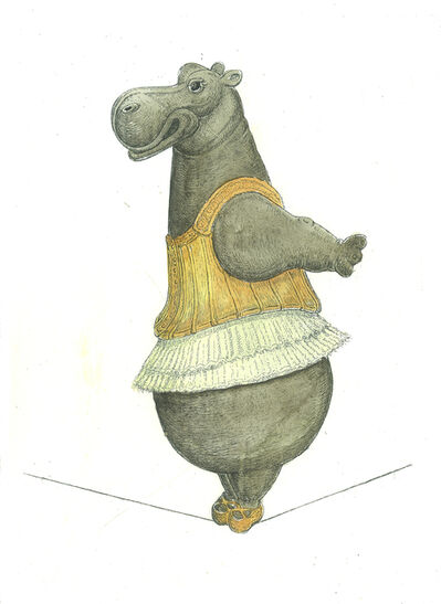 Bjorn Skaarup, 'Hippo Tightrope Dancer', 2017