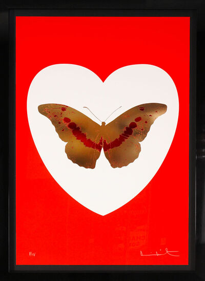 Damien Hirst, ''I Love You' Red & Gold Butterfly', 2015