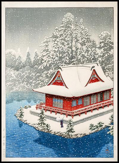 Kawase Hasui, 'Snow at Inokashira', 1928