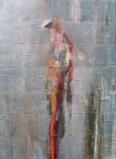 Waldemar Mitrowski, 'Abstract Figure in Gray', 2014