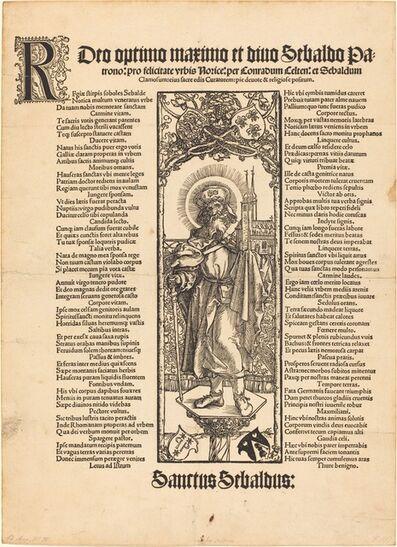 Albrecht Dürer, 'Saint Sebaldus Standing on a Column', ca. 1501