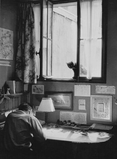 Willy Ronis, 'Vincent et le chat', 1955
