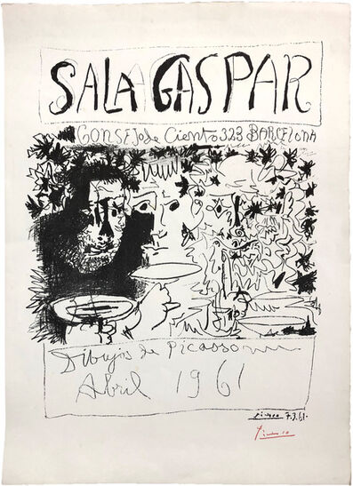Pablo Picasso, 'Dibujos de Picasso   Sala Gaspar, Barcelona.', April 1961