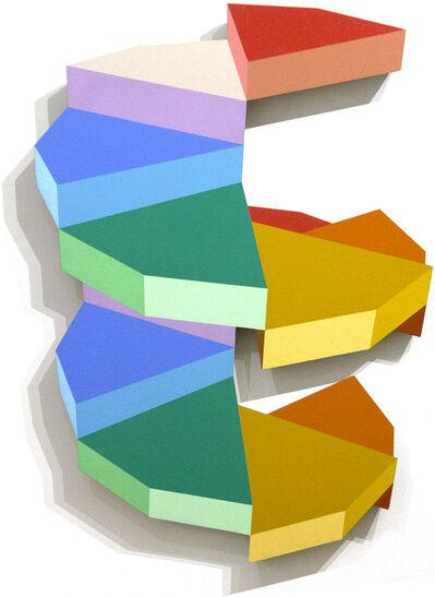 Ronald Davis, 'Twelve Step Roto (Ray Trace Shape Series)', 1988