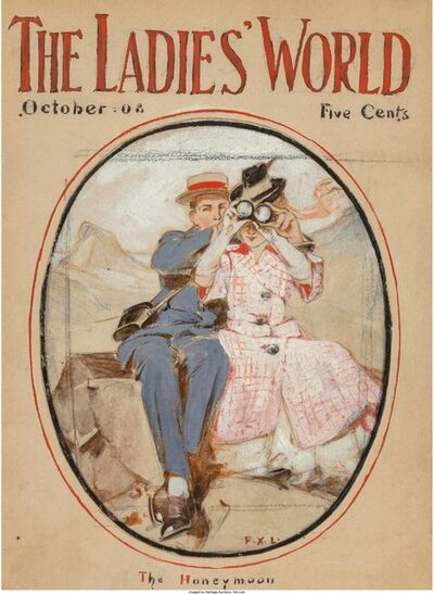 Francis Xavier Leyendecker, 'The Honeymoon, The Ladies World Magazine Cover, October 1908  ', 1908