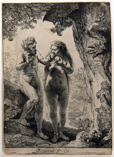Rembrandt van Rijn, 'Adam and Eve', 1638