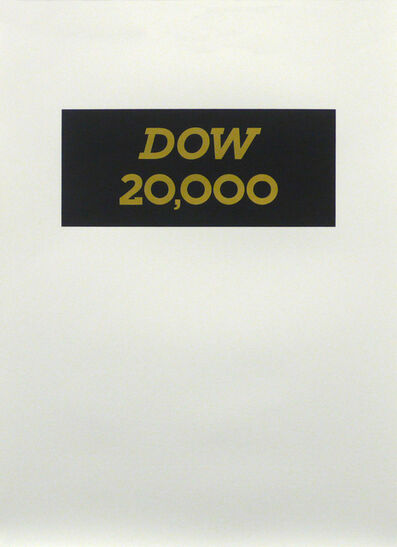 T. M. MacLowe, 'DOW 20,000', 2013