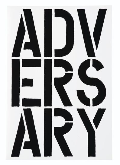 Christopher Wool, 'Adversary (Black Book)', 1989