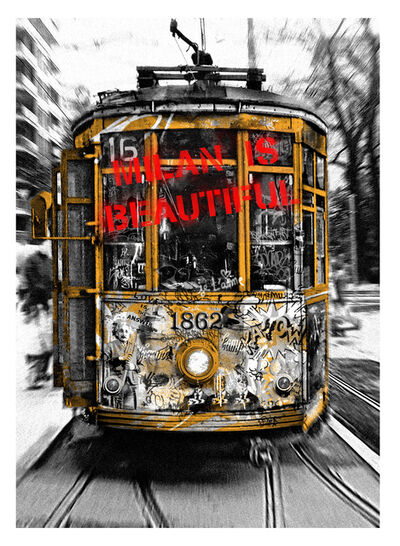 Mr. Brainwash, 'Milan is Beautiful - Tram Red', 2019