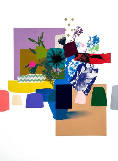 Emily Filler, 'Paper Bouquet (blue flowers + blue vase)', 2020