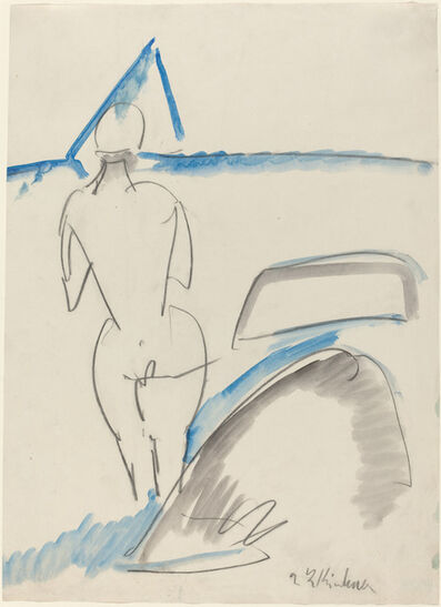 Ernst Ludwig Kirchner, 'Bather on the Beach', 1912/1913