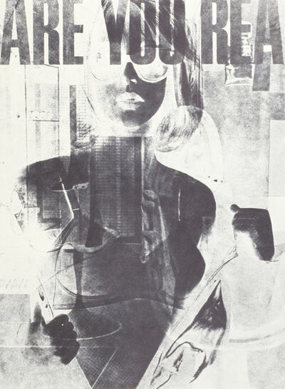 Robert Heinecken, 'ARE YOU REA', 1968