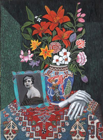 Soheila Sokhanvari, 'Still, Life (portrait of Qamar-ol-Moluk-Vaziri)', 2019