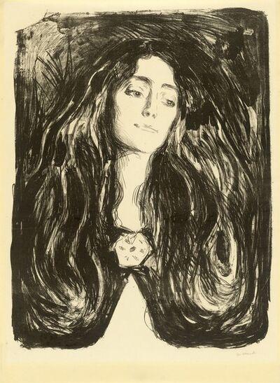Edvard Munch, 'Die Brosche. Eva Mudocci', 1903
