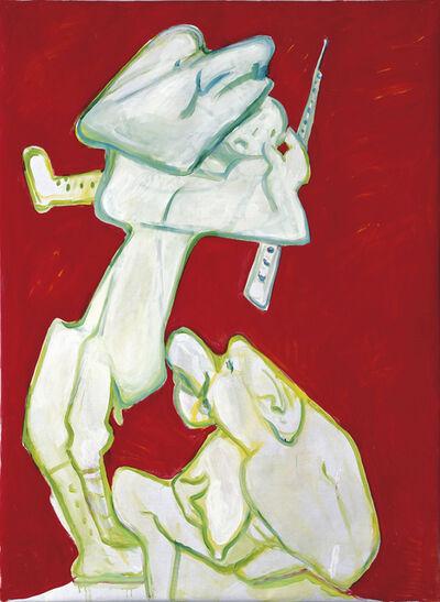 Maria Lassnig, 'Abraham opfert seinen Sohn', 2007