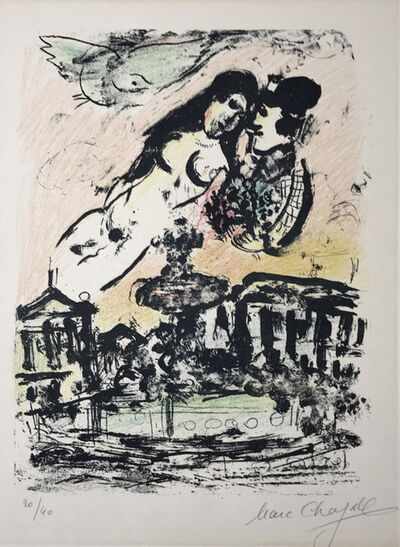 Marc Chagall, 'The lover's heaven ', 1963