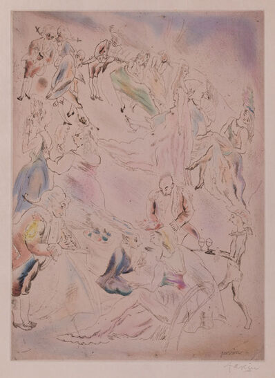 Jules Pascin, 'Cendrillon (Cinderella, the ball)', 1929