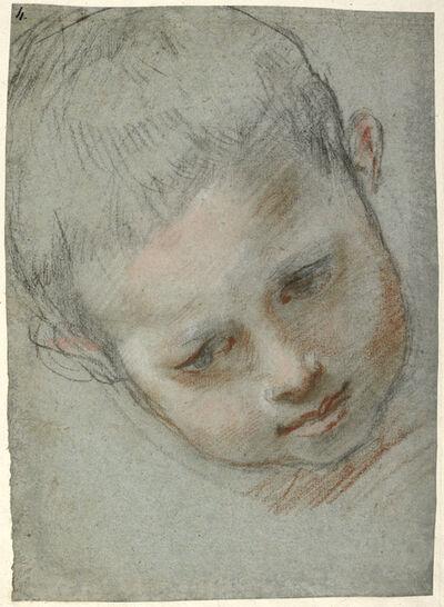 Federico Barocci, 'Head of a Boy (recto), Figure Studies (verso)', 1586-1589
