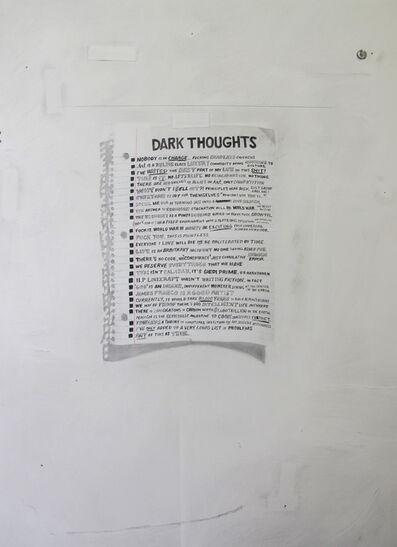 William Powhida, 'Dark Thoughts', 2014
