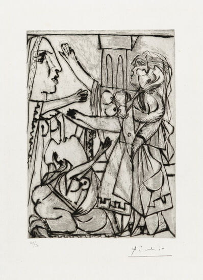 Pablo Picasso, 'LE SERMENT DE FEMMES. I (The Oath of Women. I)', 1933
