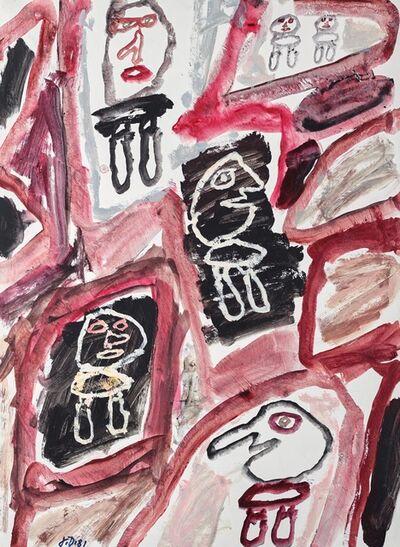 Jean Dubuffet, 'Site avec six personnages', 1981
