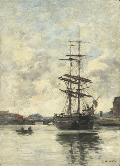 Eugène Boudin, 'Ship on the Touques', ca. 1888/1895