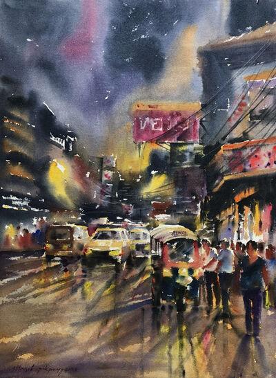 Attasit Pokpong, 'Walking in the Rain V', 2004