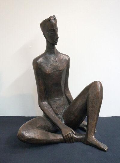Berthold Müller-Oerlinghausen, 'Erwartung (Sitzender Jüngling)', 1952