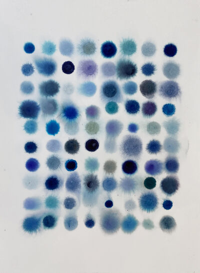 Lourdes Sanchez, '80 Dots, Mostly Blue', 2020