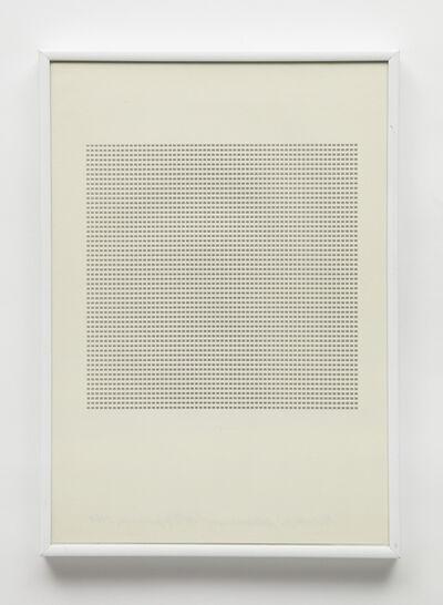 """Maurizio Nannucci, 'Dattilogramma """"=""""', 1964"""