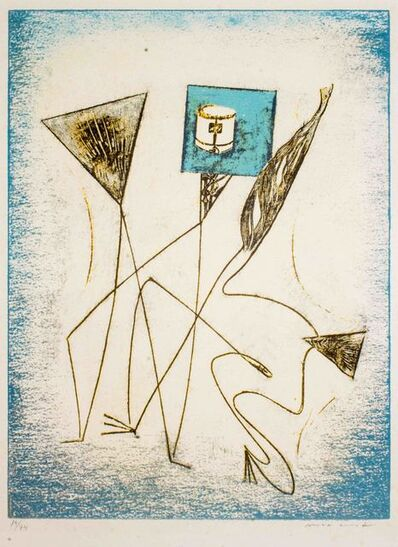 "Max Ernst, 'Composition - from ""Festin""', 1974"