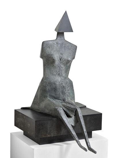 Lynn Chadwick, 'Third Girl Sitting on a Bench', 1988