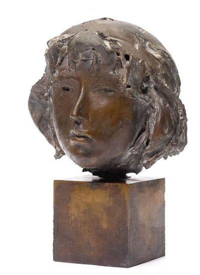 Giacomo Manzù, 'Testa di Ragazza', 1983