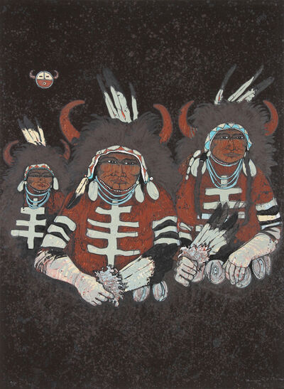 Kevin Red Star, 'Northern Plains Buffalo Dancers', ca. 1980