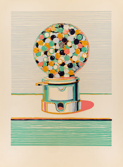 Wayne Thiebaud, 'Gumball Machine (from Seven Still Lifes and a Silver Landscape)', 1970