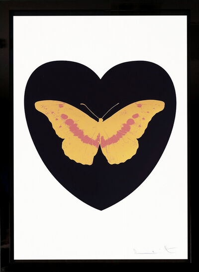 Damien Hirst, ''I Love You' Black, White & Coral Butterfly ', 2015