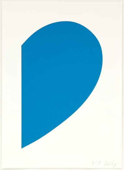 Ellsworth Kelly, 'Small Blue Curve', 2013